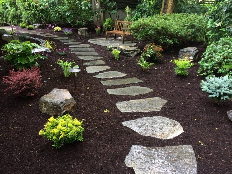 flagstone-stepping stones-plants